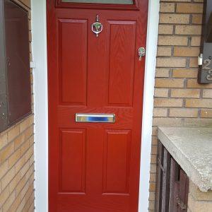 fitted upvc door frame